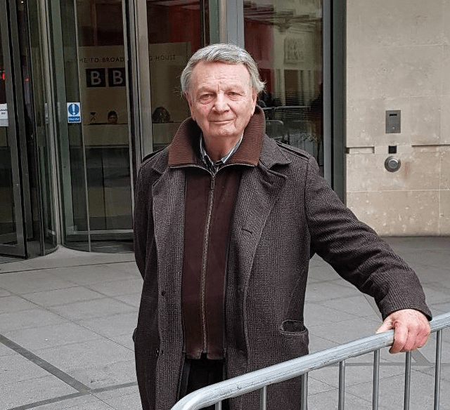 PICTURED: Clive Roslin (outside BBC Broadcasting House in 2017). SUPPLIED BY: Paul R. Jackson. COPYRIGHT: Paul R. Jackson.