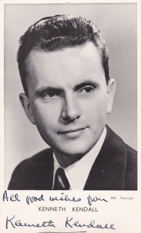 PICTURED: Kenneth Kendall. SUPPLIED BY: Paul R. Jackson. COPYRIGHT: BBC.