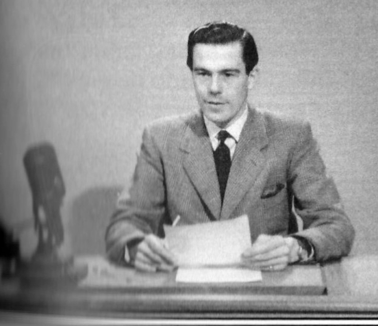 PICTURED: Martin Muncaster (reading the headlines on BBC South). SUPPLIED BY: Martin Muncaster. COPYRIGHT: Unknown.