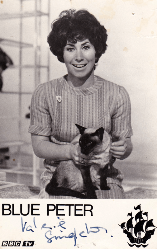 PICTURED: Valerie Singleton (Blue Peter). SUPPLIED BY: Paul R. Jackson. COPYRIGHT: BBC.