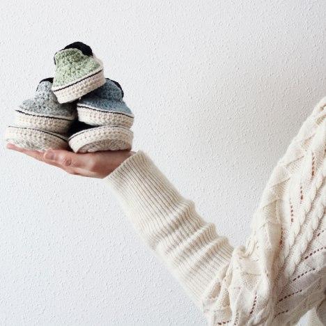 Birkenstock style crochet shoe for babies
