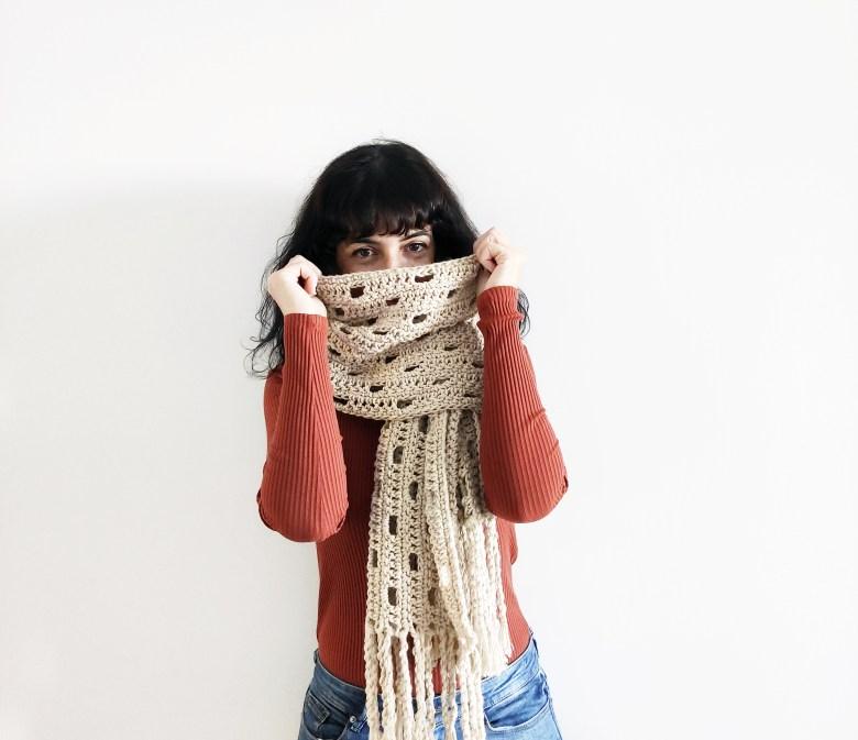 Patron bufanda de crochet Giulia