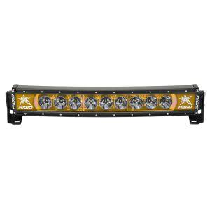 20 Inch LED Light Bar Single Row Curved Amber Backlight Radiance Plus RIGID Industries