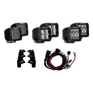 17-18 Ford Raptor Fog Light Kit Includes Mounts and 6 D-Series RIGID Industries