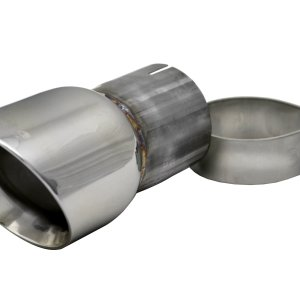 Single 3.5 Inch Polished Pro-Series Tip (Clamp Included) 2.75 Inlet Pipe Universal Stainless Steel Corsa Performance
