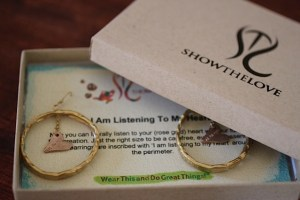 Hoop earrings Jewelry made from recycled 14kt gold, brass and rose gold.