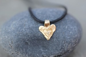 Jewelry made from recycled sterling silver and 14k gold