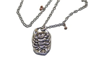Pendant jewelry made from recycled sterling silver and ethically sourced diamonds
