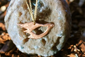 I Fly With the Wind Beneath My Wings necklace Jewelry made from recycled brass and rose gold