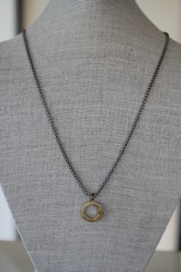 Jewelry made from recycled brass