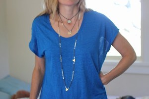Tree Hugger necklace Jewelry made from 14k gold-plated brass and silver-plated brass
