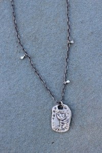 Blossoming Rose necklace Jewelry made from recycled sterling silver or brass