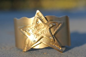Jewelry made from recycled 14k gold plated brass