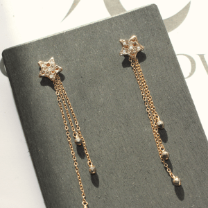 Rising Star Earrings Gold