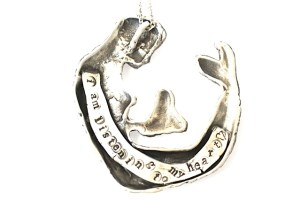 Mermaid necklace Jewelry made from recycled sterling silver
