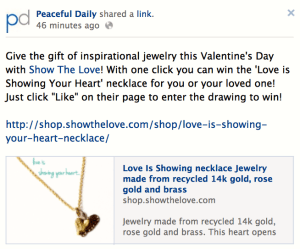 Peaceful Daily Necklace Giveaway