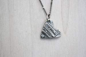 she believe she could so she did heart necklace
