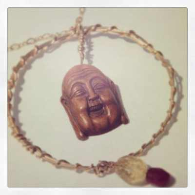 Found out in la's resale shops. Love this piece. #keeping #showthelovejewelry #fashion #happybuddha #malibumisty