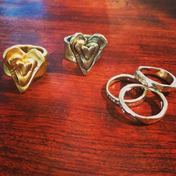 Rings, Rings, rings!! Lots of buzz going on about these Blossom of Love rings and our always awesome showtheLOVE rings! #dontmissout #showthelovejewelry #rings #hearts #organic