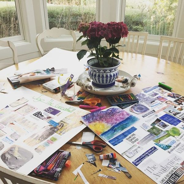 Mother daughter vision boards for 2017.