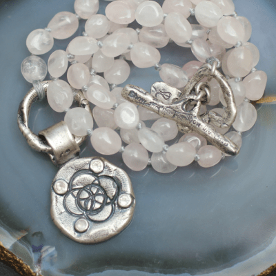 Wear this handcrafted, inspirational piece which represents one of the most ancient and powerful symbols of life, the Flower of the Universe. Wear this pendant and be accompanied by its positive energies throughout the day.