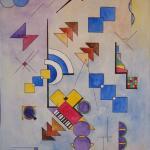 Kunstwerk Geometrische Abstraktion Von