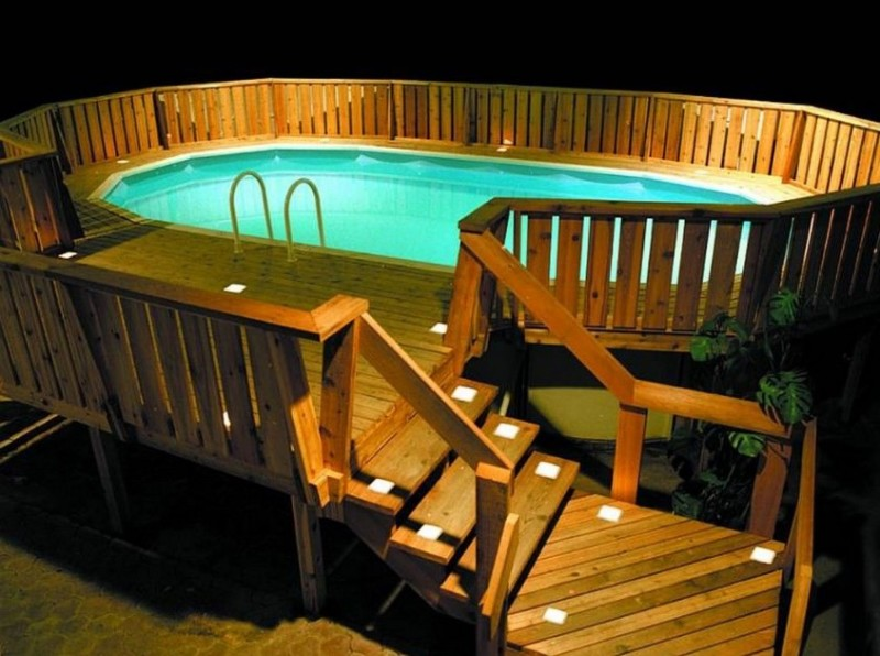 Incroyable Outdoor Lighting For Types Of Above Ground Pool Decks