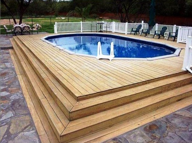 Above Ground Oval Pool Deck Plans