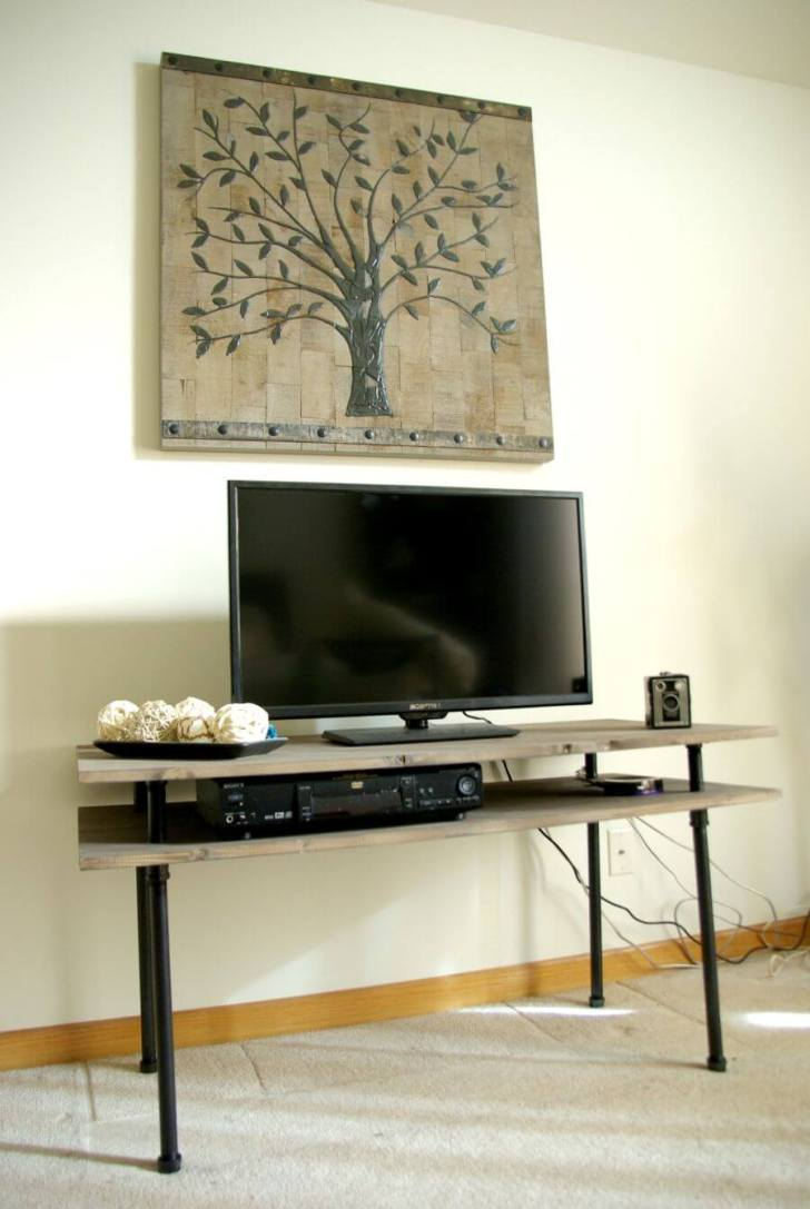 50 Creative Diy Tv Stand Ideas For Your Room Interior Diy  # Meuble Tv Pinterest