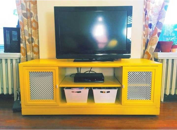 Upcycled TV Stand