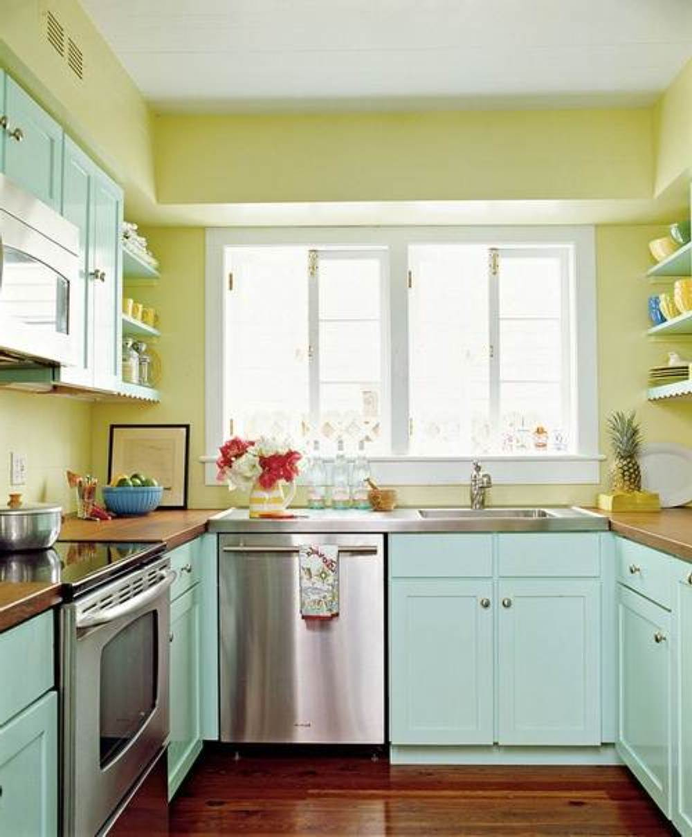 Small Space Small Kitchen Paint Colors Novocom Top