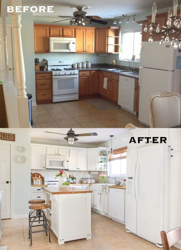 Farmhouse kitchen remodel on a budget