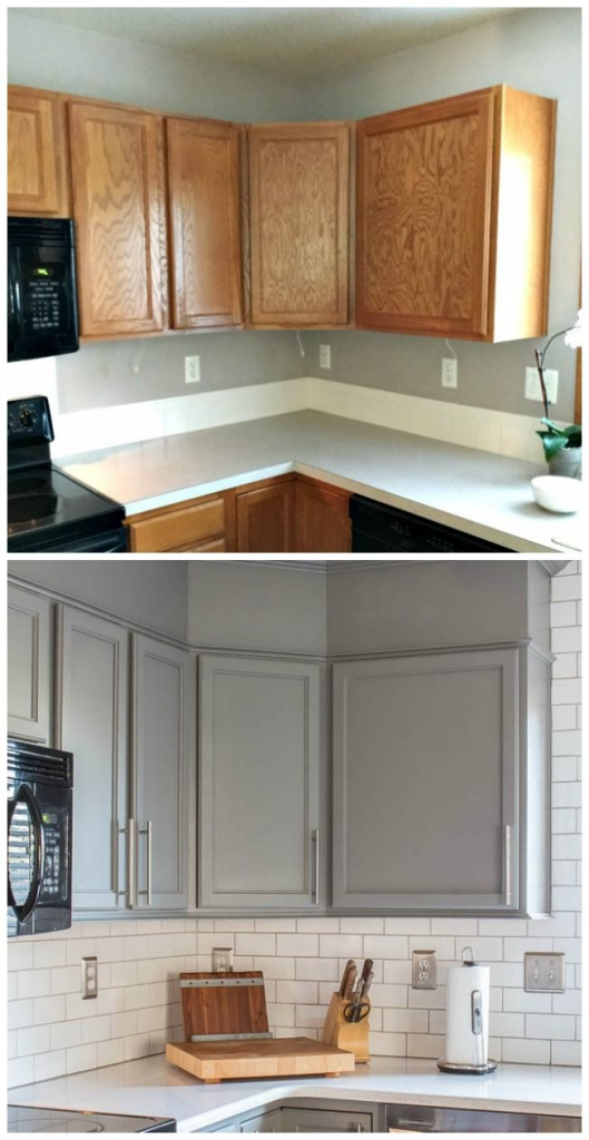 Kitchen cabinet renovation before and after