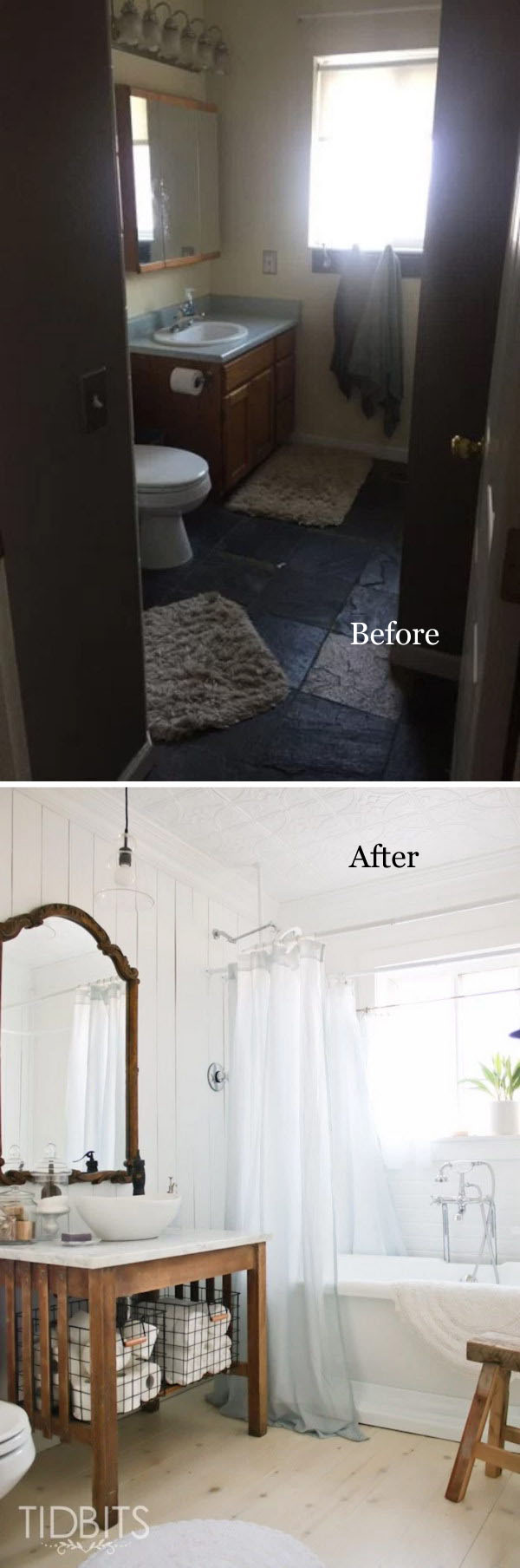 Cottage Small Bathroom Remodel Before After