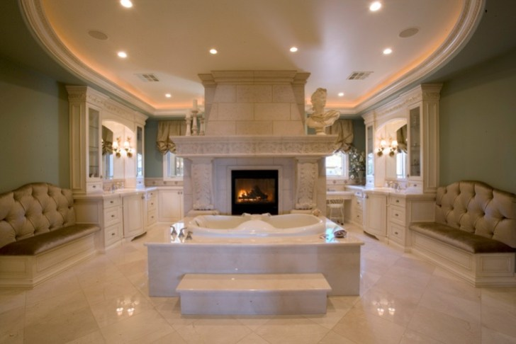 Fantastic Mediterranean Spa Style Bathroom