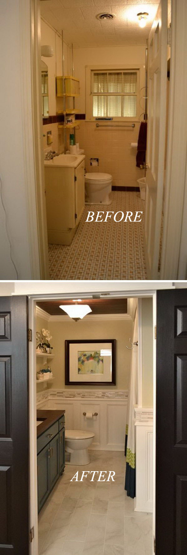 Hallway Small Bathroom Remodel Before After
