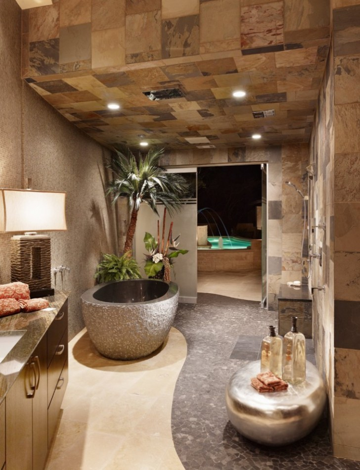 Ultra Modern Spa Master Bathroom