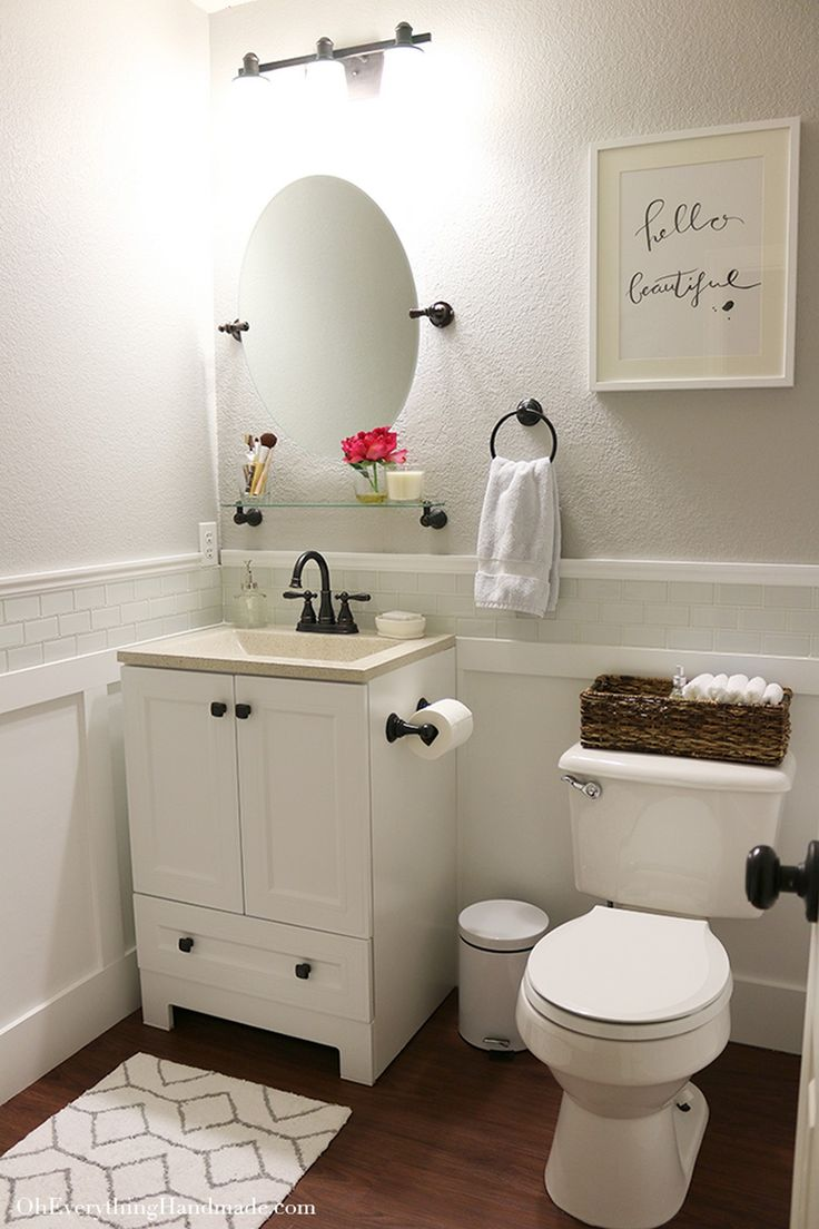 Best 25+ Small Bathroom Makeovers Ideas on a Budget - DIY Design & Decor