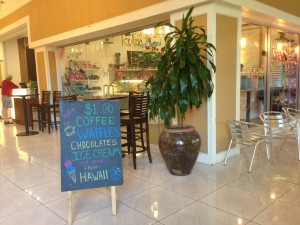 Located right at the street level entrance to the Queen Kapiolani Hotel