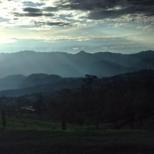 Beautiful views from Bogota - Medellin