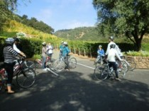 Getting ready to bike through Napa, CA