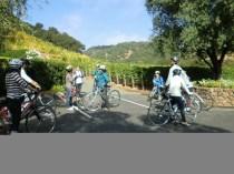 Getting ready to bike through Napa, CA