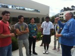 Qualcomm Tour Guide and Garfield Students - Getting ready for Qualcomm Tour