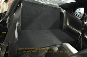 19942004 Ford Mustang Rear Seat Delete | Shrader Performance Online Store