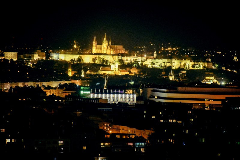 Prague night view