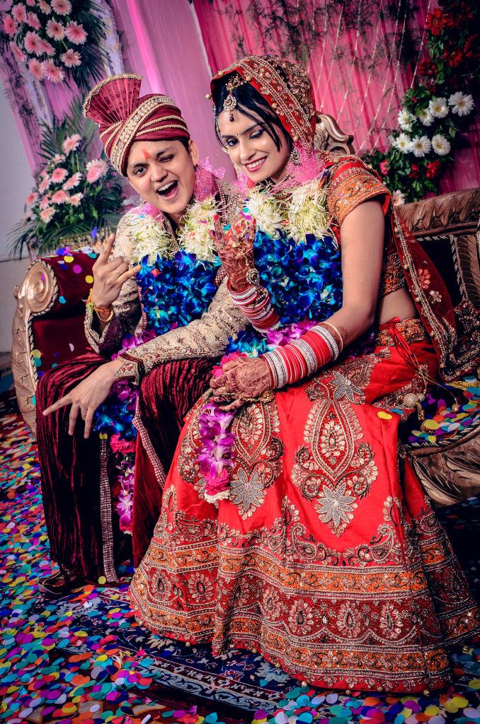 indian wedding bride nd groom