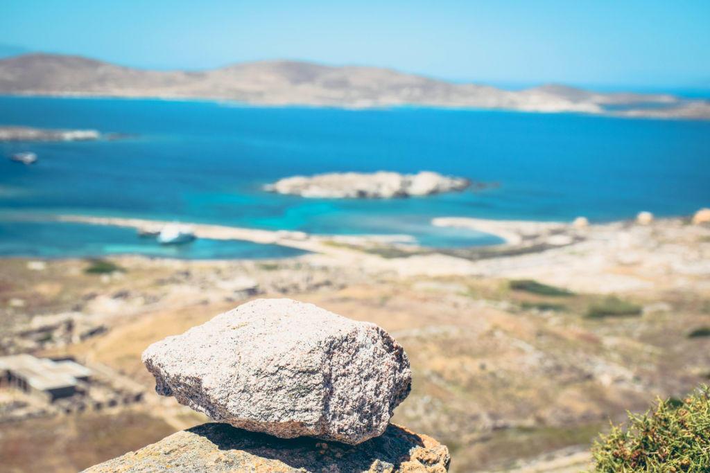 rock sea view
