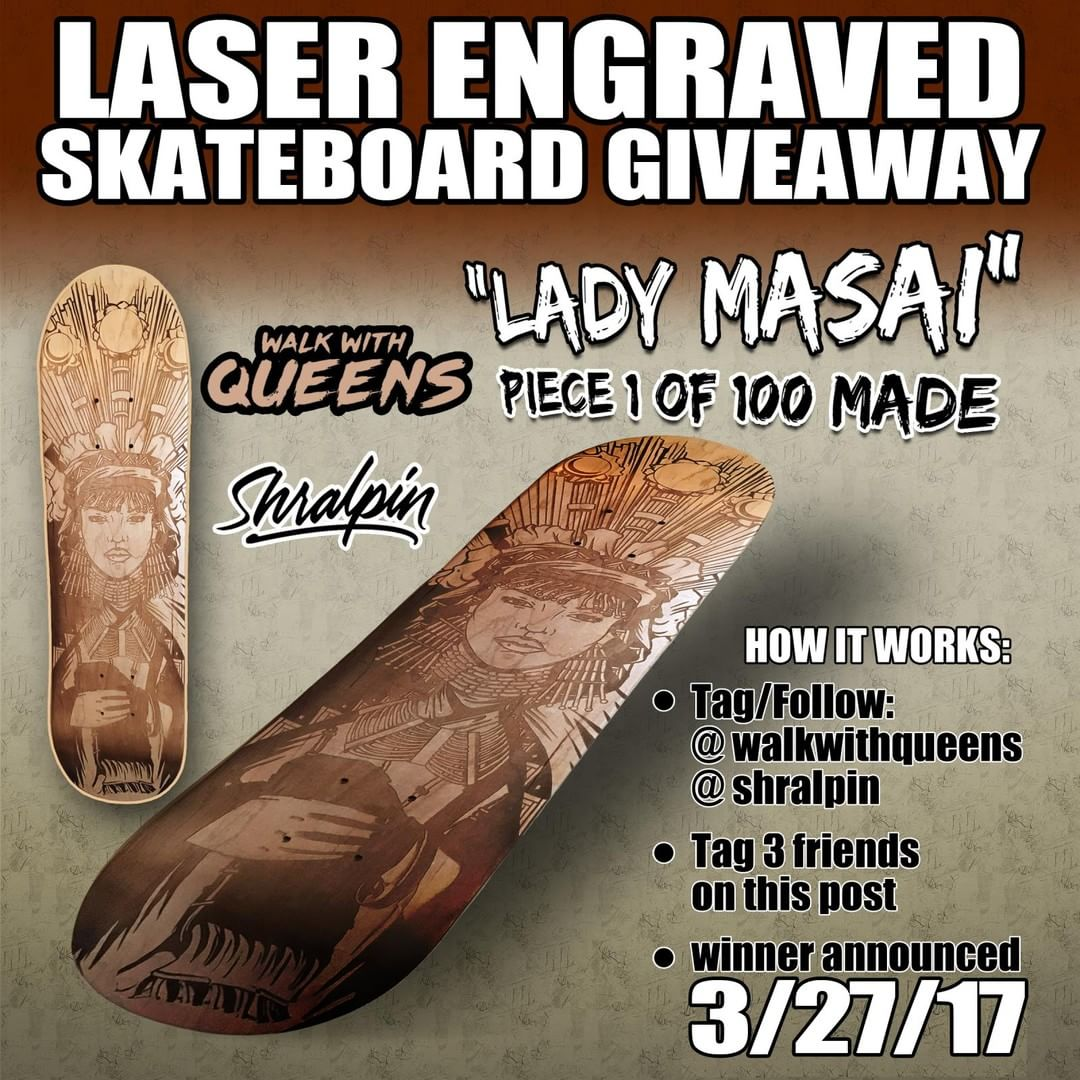 Win a new deck   Follow @walkwithqueens & @shralpin  Tag 3 friends in the commen…