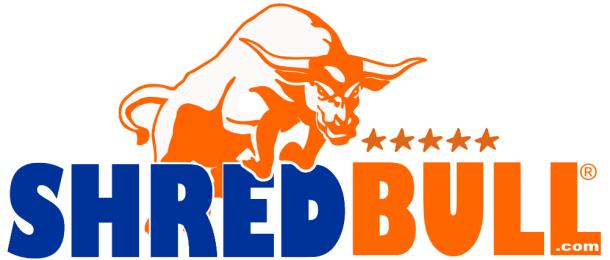 Shred Bull Shredding Logo Irvine California document shredding service