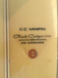 Con CC Minipin Lightweight 1960s 8'63
